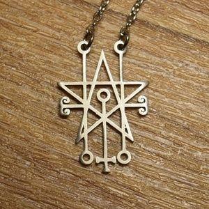 Sigil of Astaroth Satanic Necklace / Pendant
